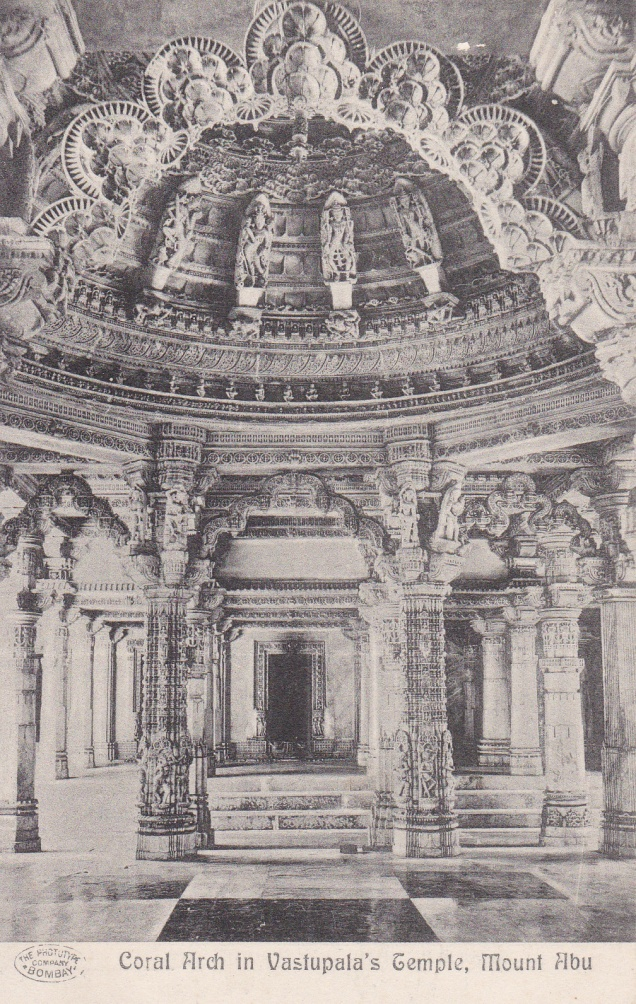 Mt. Abu, Vastupala's Temple, Jainism postcard