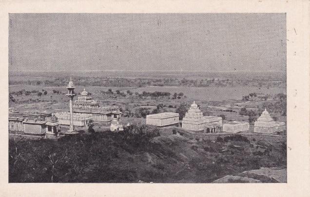Sravana Belgola, ariel view of Chandragiri and 14 temples, Jainism Postcard