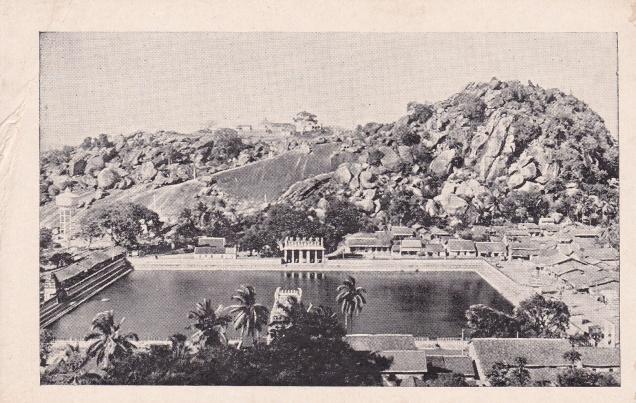 Sravana Belgola, view of Chandragiri from Vindhyagiri, Jainism Postcard