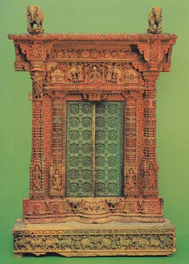 carved wood shrine door