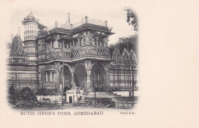 ahmedabad-huthi-singhs-tomb-jain-temple-jainism-postcard