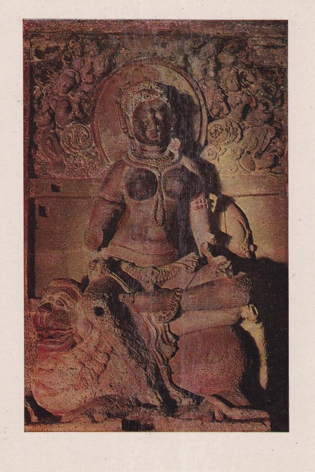 goddess-indrani-jain-cave-33-ellora-jainism-postcard