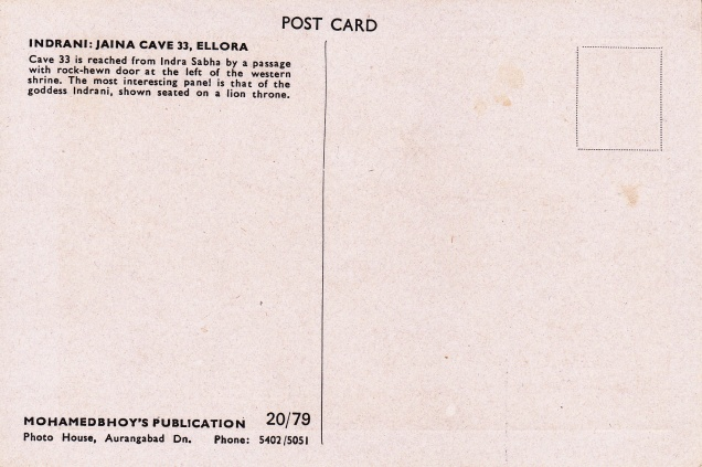 goddess-indrani-jain-cave-33-ellora-jainism-postcardback