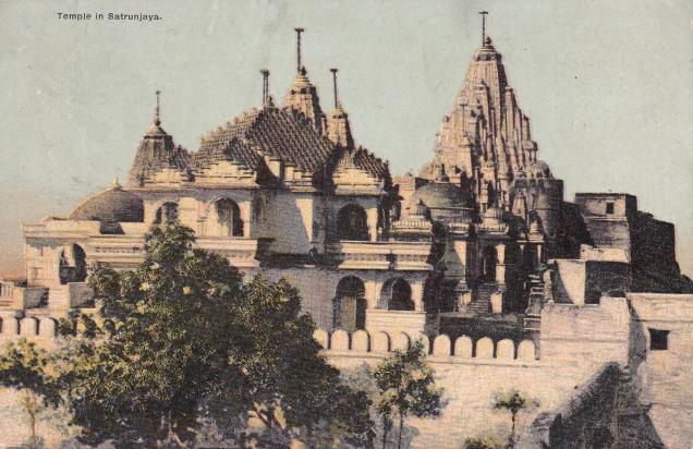 shatrunjaya-jain-temple-jainism-postcard