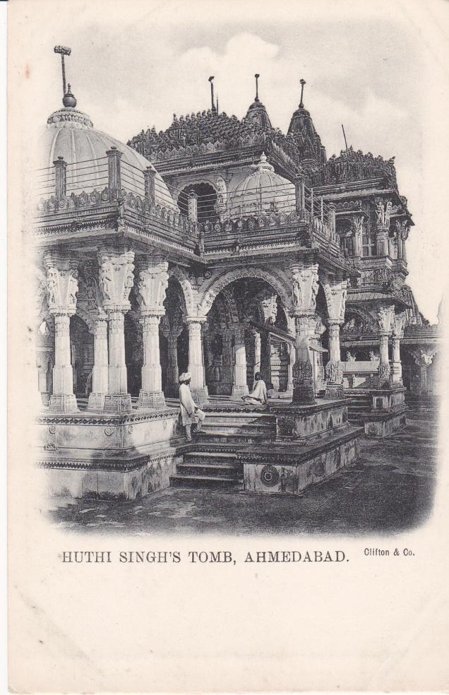 huthi-singhs-tomb-jain-temple-ahmedabad-jainism-postcard