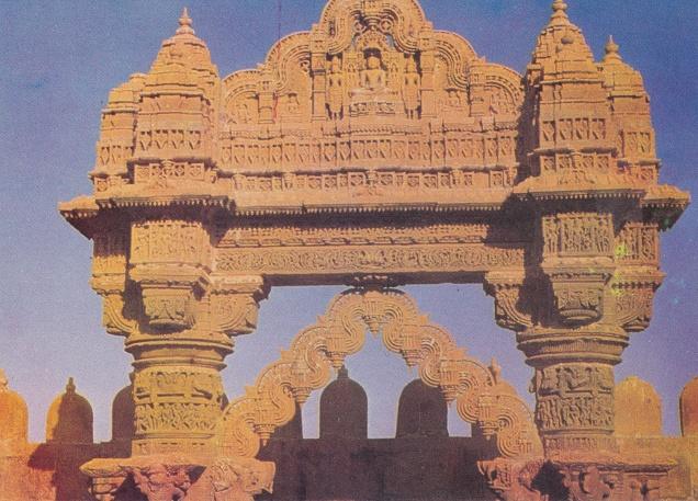 jain-temple-ludarva-jaisalmer-jainism-postcard