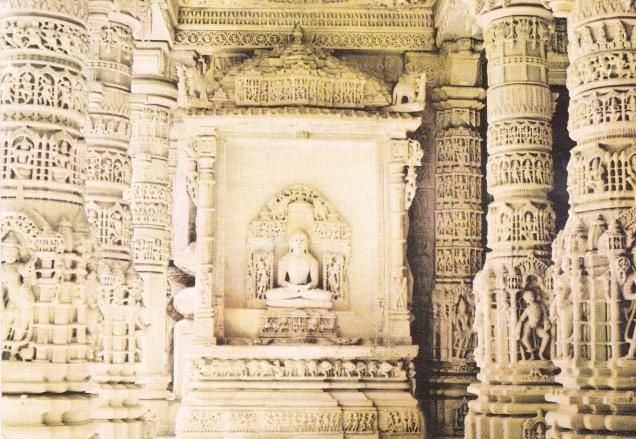 jina-delwara-temple-mount-abu-jainism-postcard