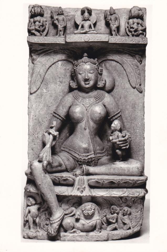 Ambika Jain Goddess Jainism Postcarda