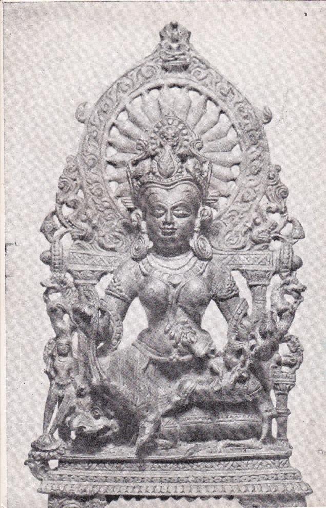 Ambika Jain Goddess Jainism Postcardb