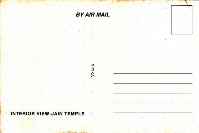 Jain Temple Calcutta Jainism Postcardbback