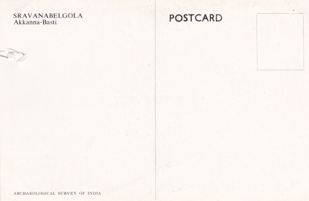 Akkanna Basti Sravanabelgola Jainism Postcardback