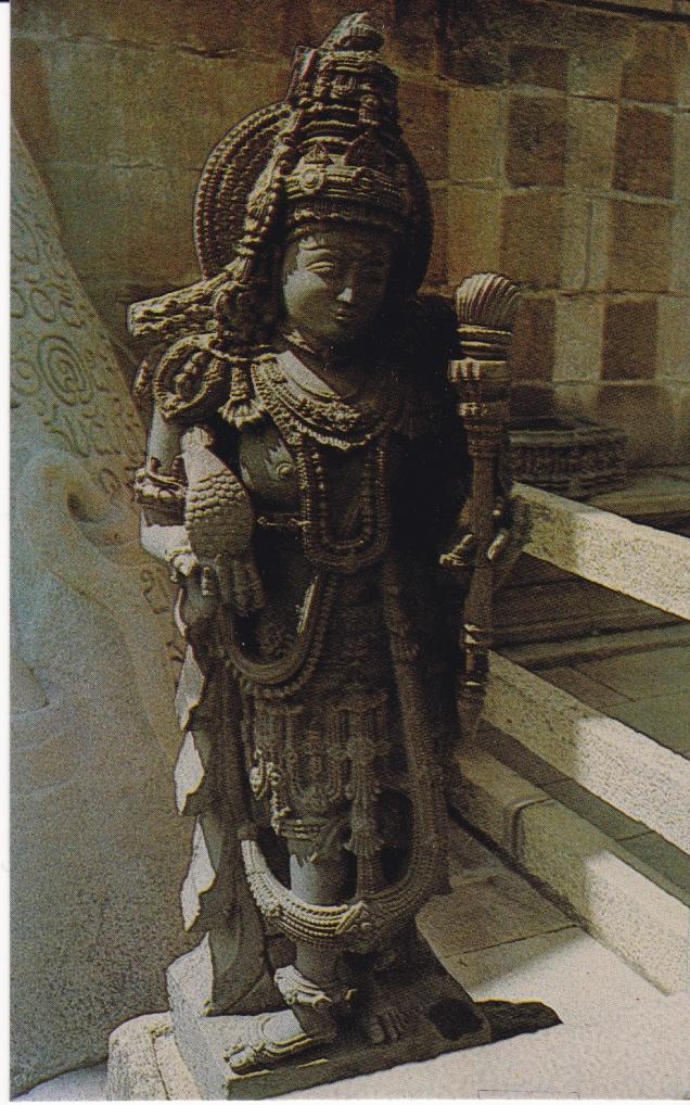 Dwarapalaka of Gommateshwara Sravana Belgola Jainism Postcard