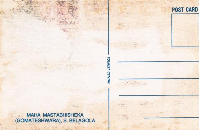 Gomateshwara Maha Mastabhisheka Sravana Belgola Jainism Postcardback