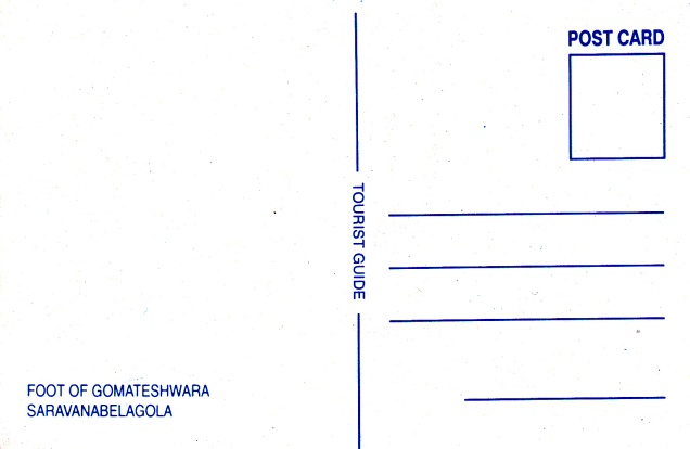 Gomateshwara Mastakabhishekha Sravana Belgola Jainism Postcard2back