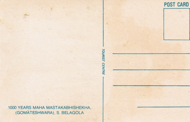 Gomateshwara Mastakabhishekha Sravana Belgola Jainism Postcardback