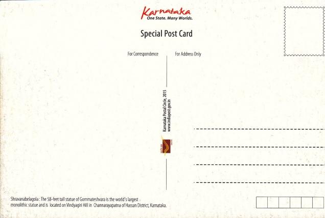 Gommateshvara Vindyagiri Hill Sravana Belgola Jainism Postcardback
