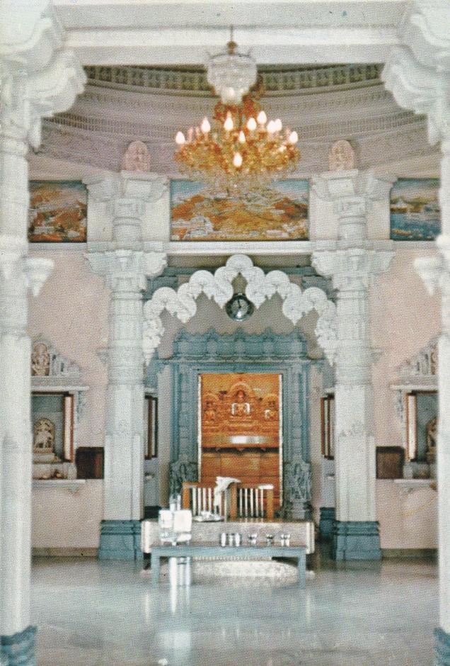 Interior Jain Temple Mombasa Kenya
