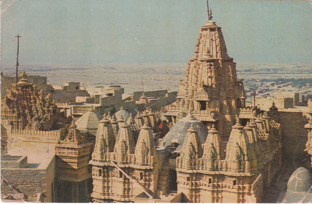 Jaisalmer Jain Temples in the fort Jainism Postcard