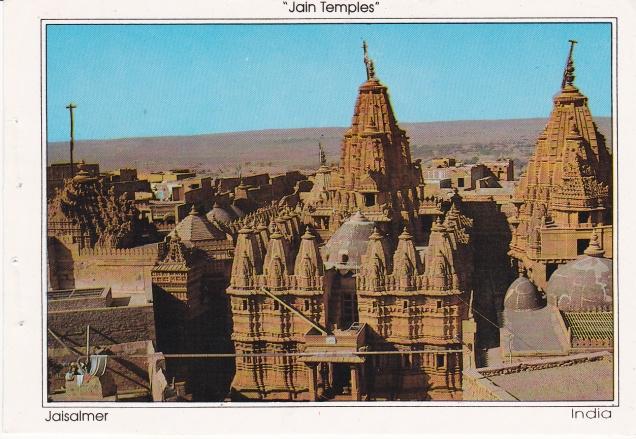 Jaisalmer Jain Temples Jainism Postcard