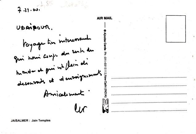 Jaisalmer Jain Temples Jainism Postcardback