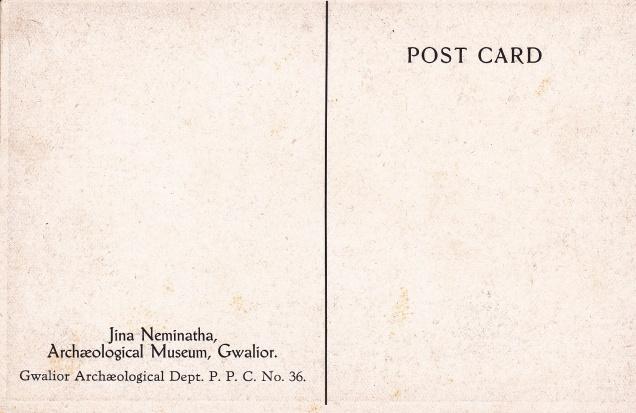 Jina Neminatha Gwalior Museum Jainism Postcardback