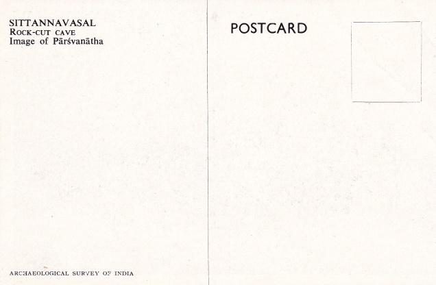 Parsvanatha Sittannavasal Jain cave Jainism Postcardback