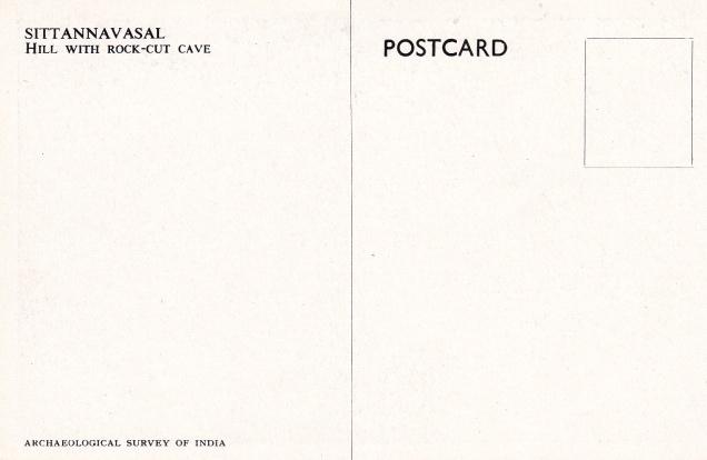 Sittannavasal Hill with Jain cave Jainism Postcardback