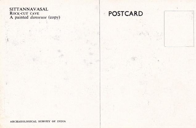 Sittannavasal Jain cave decorative painting Jainism Postcardback