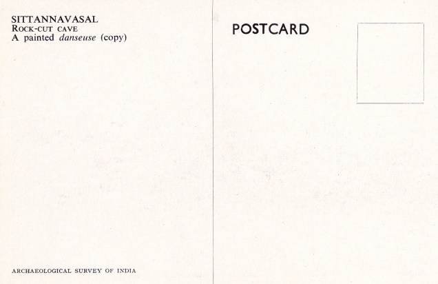 Sittannavasal Jain cave decorative painting Jainism Postcardbback