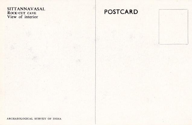 Sittannavasal Jain cave interior Jainism Postcardback