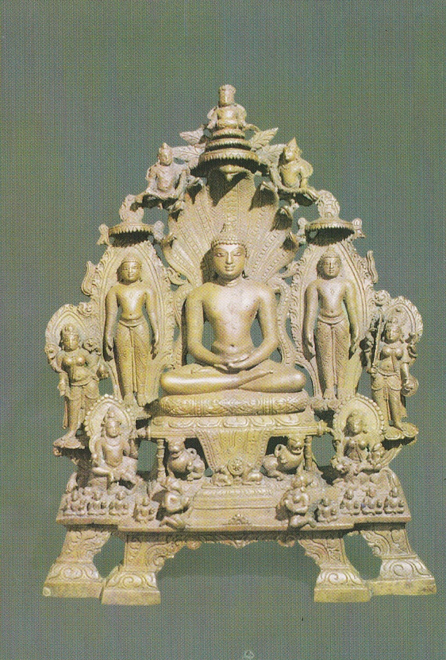 Tirthankara Parsvanatha Akota National Museum Jainism Postcard