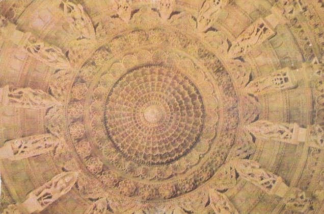 Ranakpur Jain Temple Carved Ceiling with Goddessesb