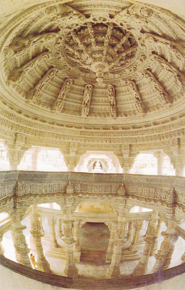 Ranakpur Jain Temple Megh Mandap Carved Ceiling with Goddesses