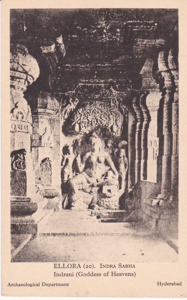 Ellora Jain Cave Indra Sabha Indrani Goddess