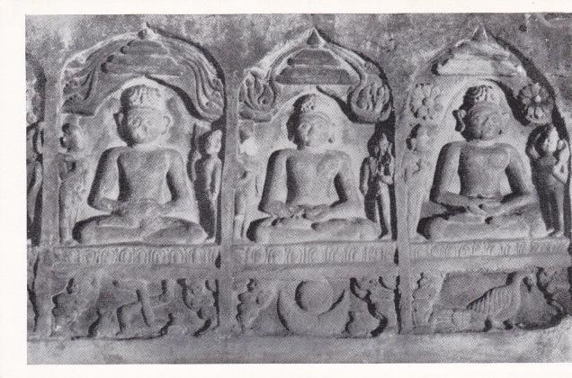 Khandagiri Jain Cave 9 Suparsva Chandraprabha Pushpadanta Jinas