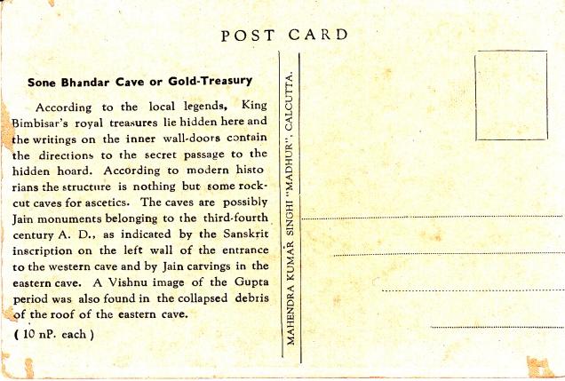 Sone Bhandar Jain Cave Rajgirback