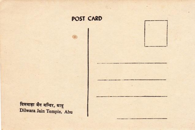 Dilwara Jain Temple Mandir Abu Jainism Postcardback