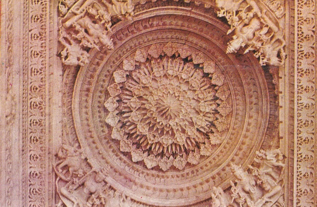 Mount Abu Dilwara Portico Ceiling Goddesses
