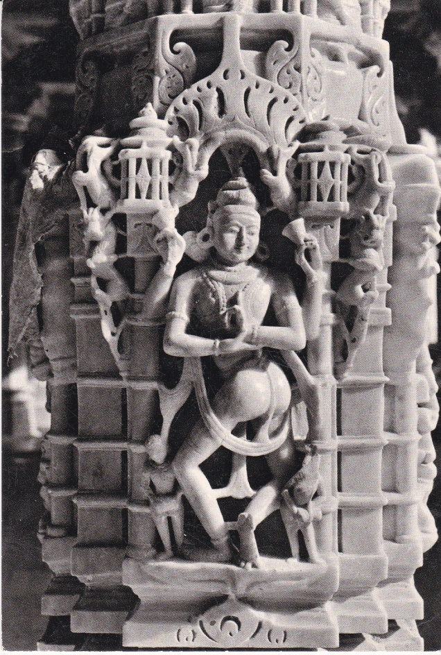 Mount Abu Jain Temple Decorative Figure Pillar