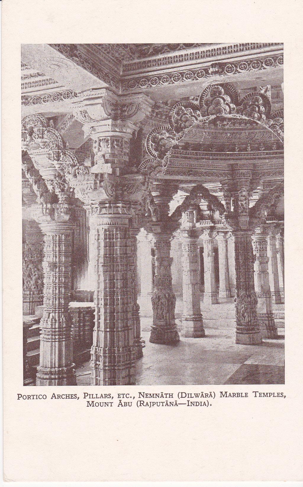 Portico Arches, Pillars, etc. Neminath Dilwara Marble Temples Mount Abu